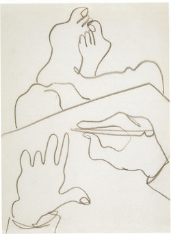 Endre Rozsda - L'artiste dessinant (1938)