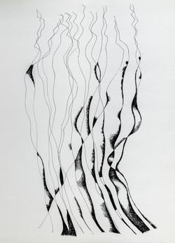 Endre Rozsda - Les fils (cca 1980)