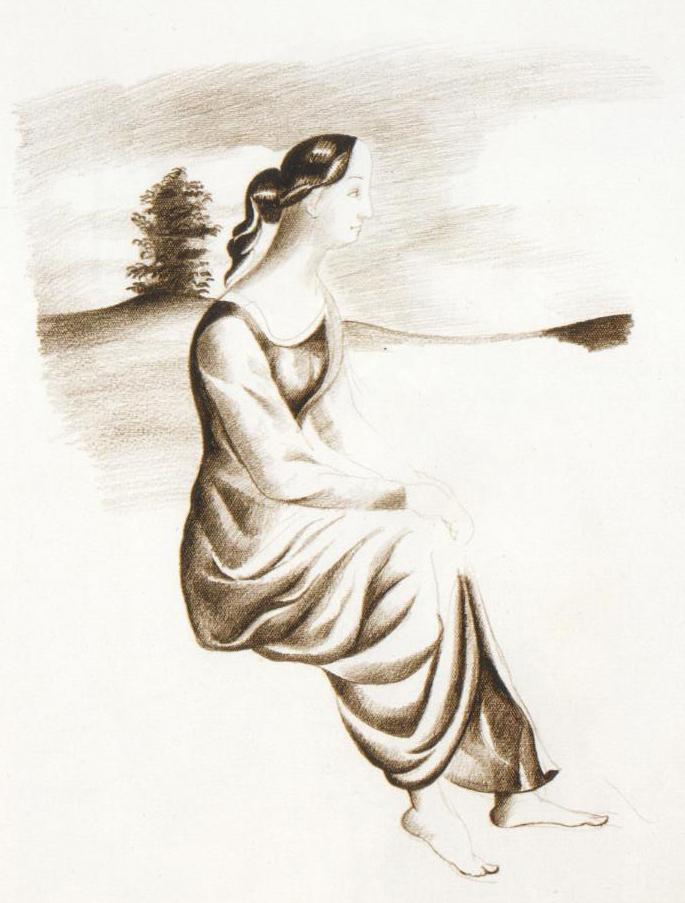 Endre Rozsda - Femme en Arcadie (cca 1953)
