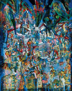 Endre Rozsda - Explosion dans la cathédrale II. (1980)