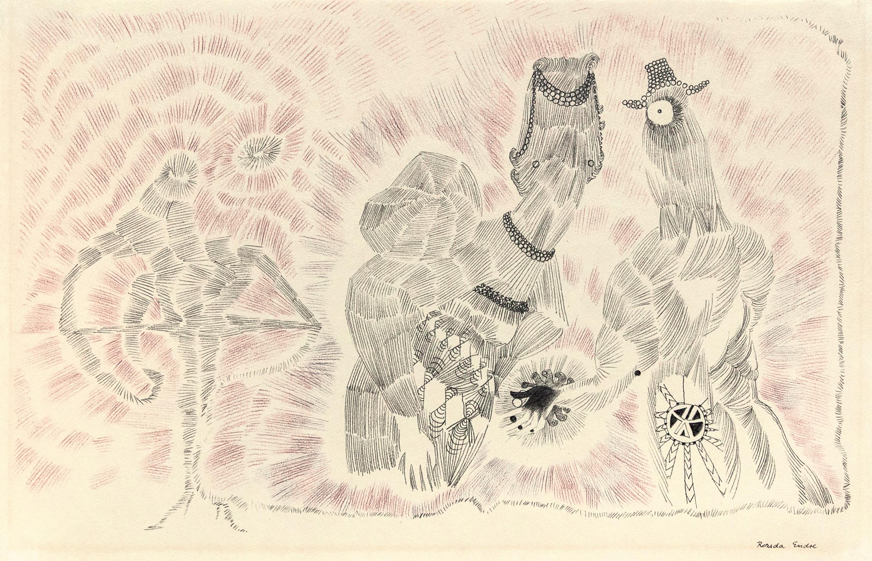 Endre Rozsda - Trois figures (1955)