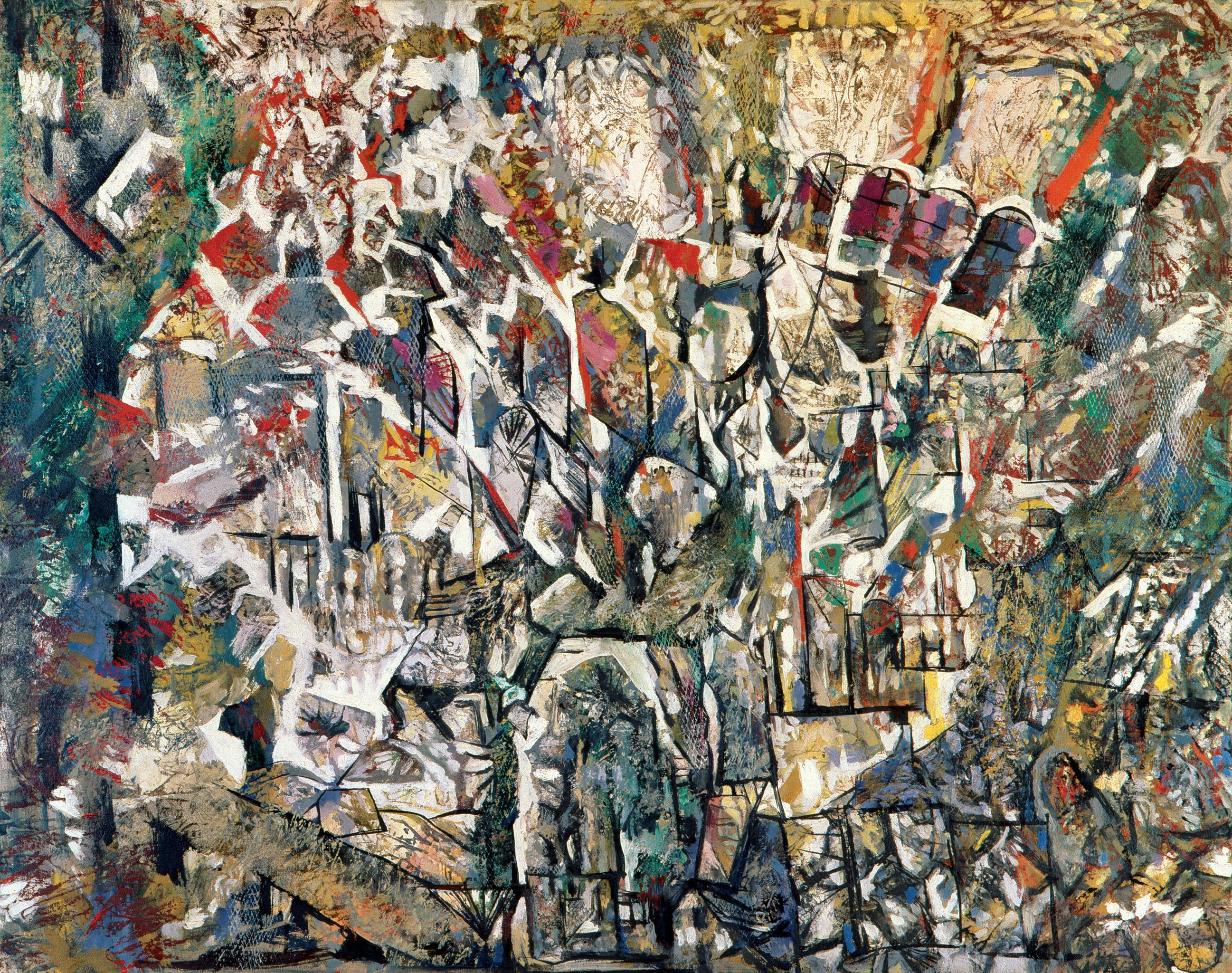 Endre Rozsda - Explosion dans la cathédrale (1959)