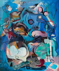 Endre Rozsda - Composition surréaliste (1947)