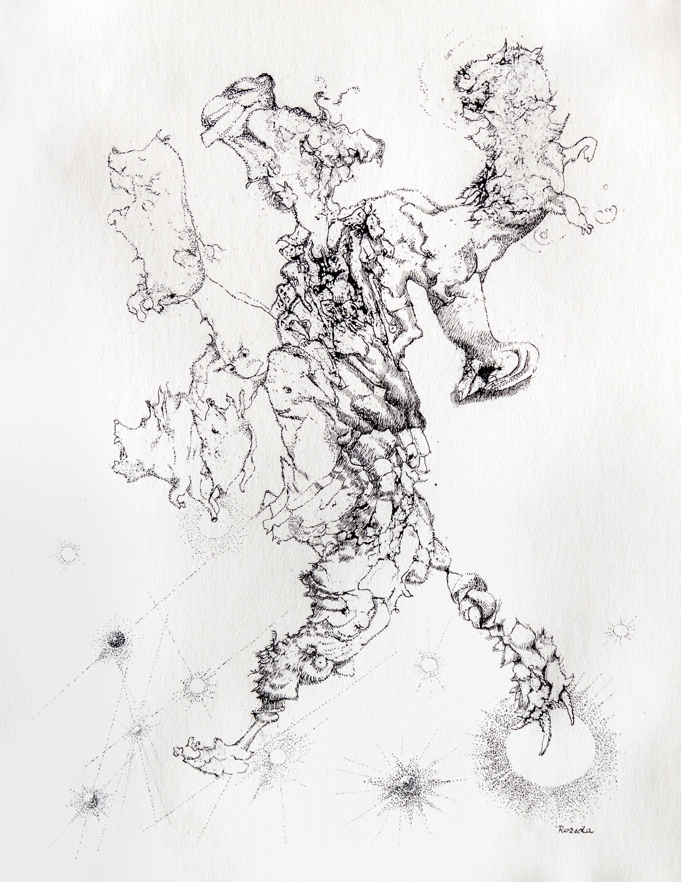 Endre Rozsda - Promenade dans les étoiles (cca 1960)