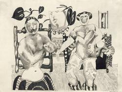 Endre Rozsda - Deux prostituées (1955)