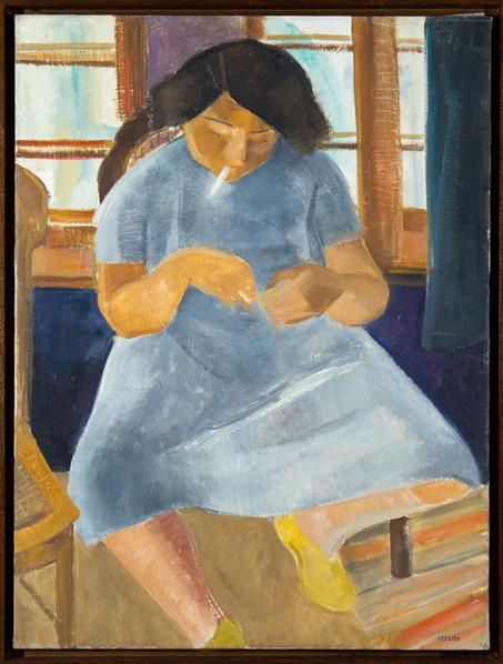 Endre Rozsda - Fille à la cigarette (193