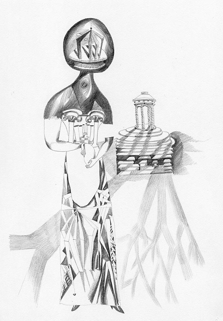 Endre Rozsda - Femme au temple (cca 1953)
