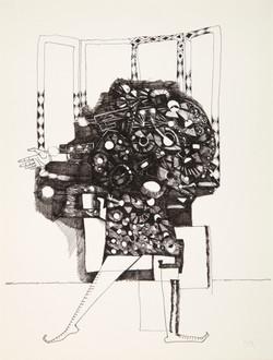 Endre Rozsda - Le Bouquet de fleurs anthropophages (c 1975)