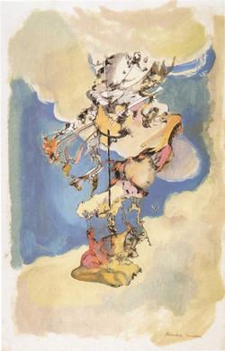 Endre Rozsda - Figures dans les nuages (cca 1956)