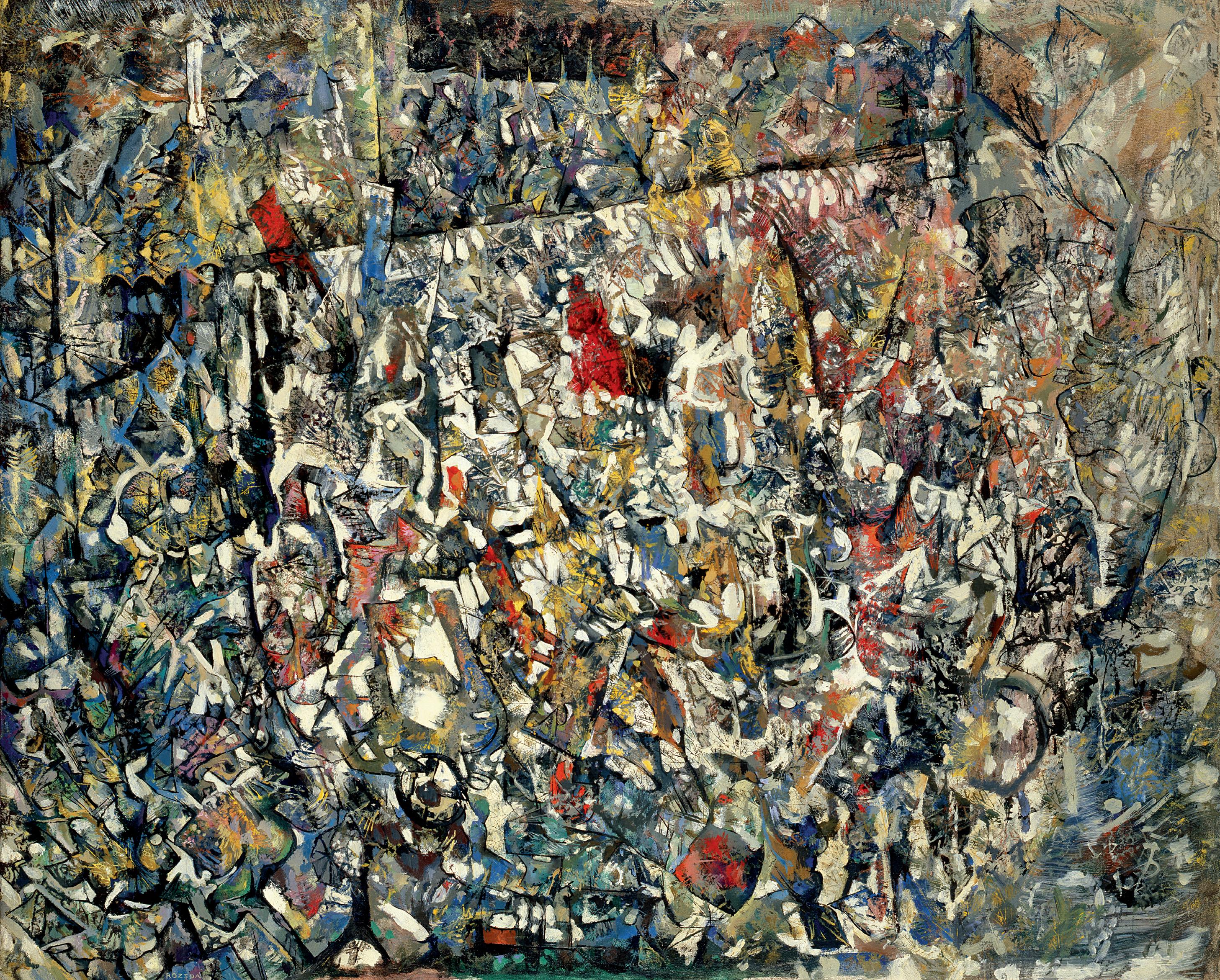Endre Rozsda - Visage pâle (1958)