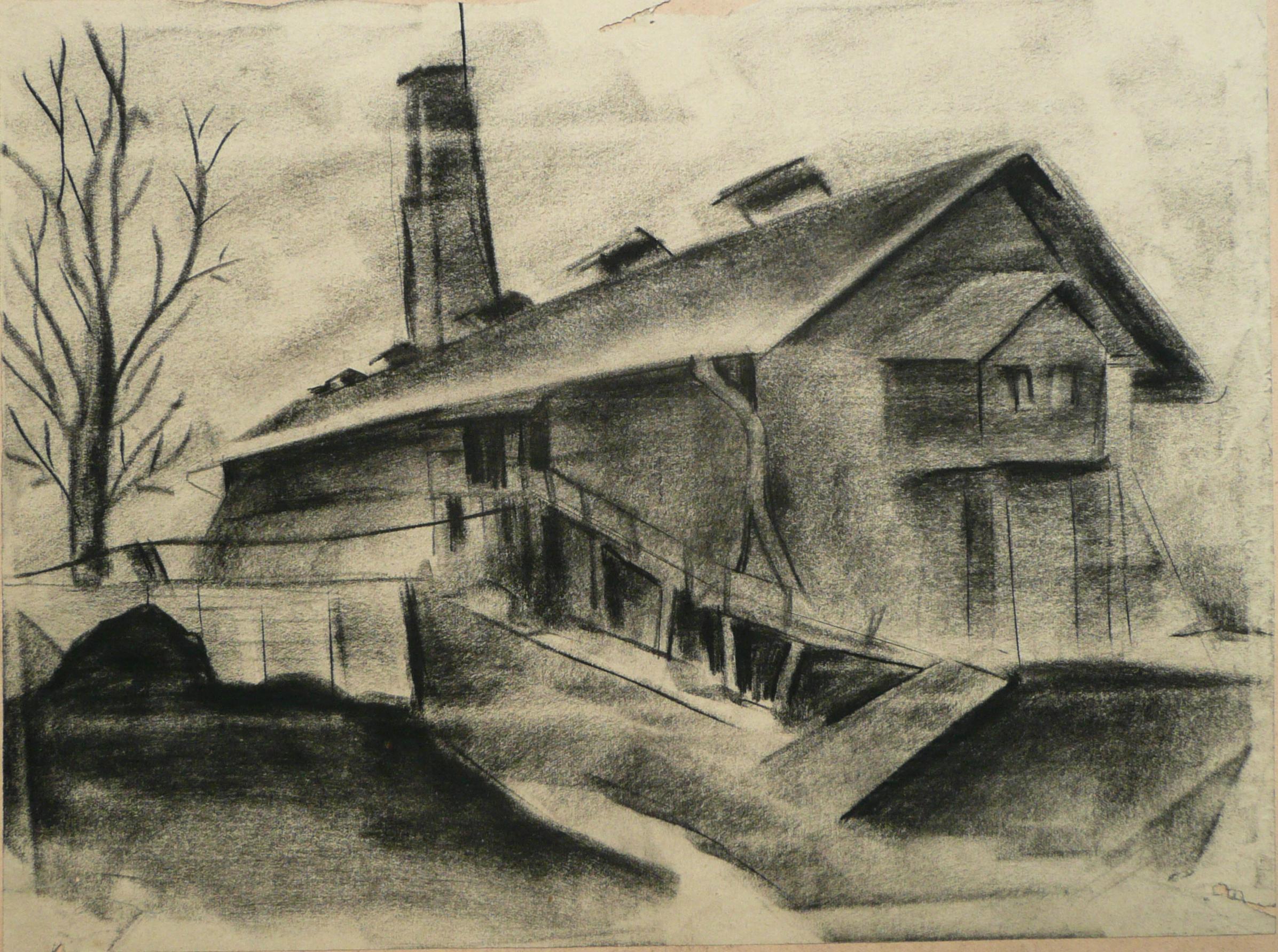 Endre Rozsda - La Fabrique (1932)