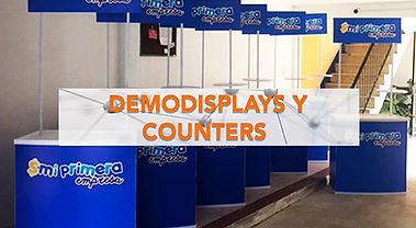 demo-display, stand portatil, display publicitiario, demo stand, punto de venta, dispay para degustacion