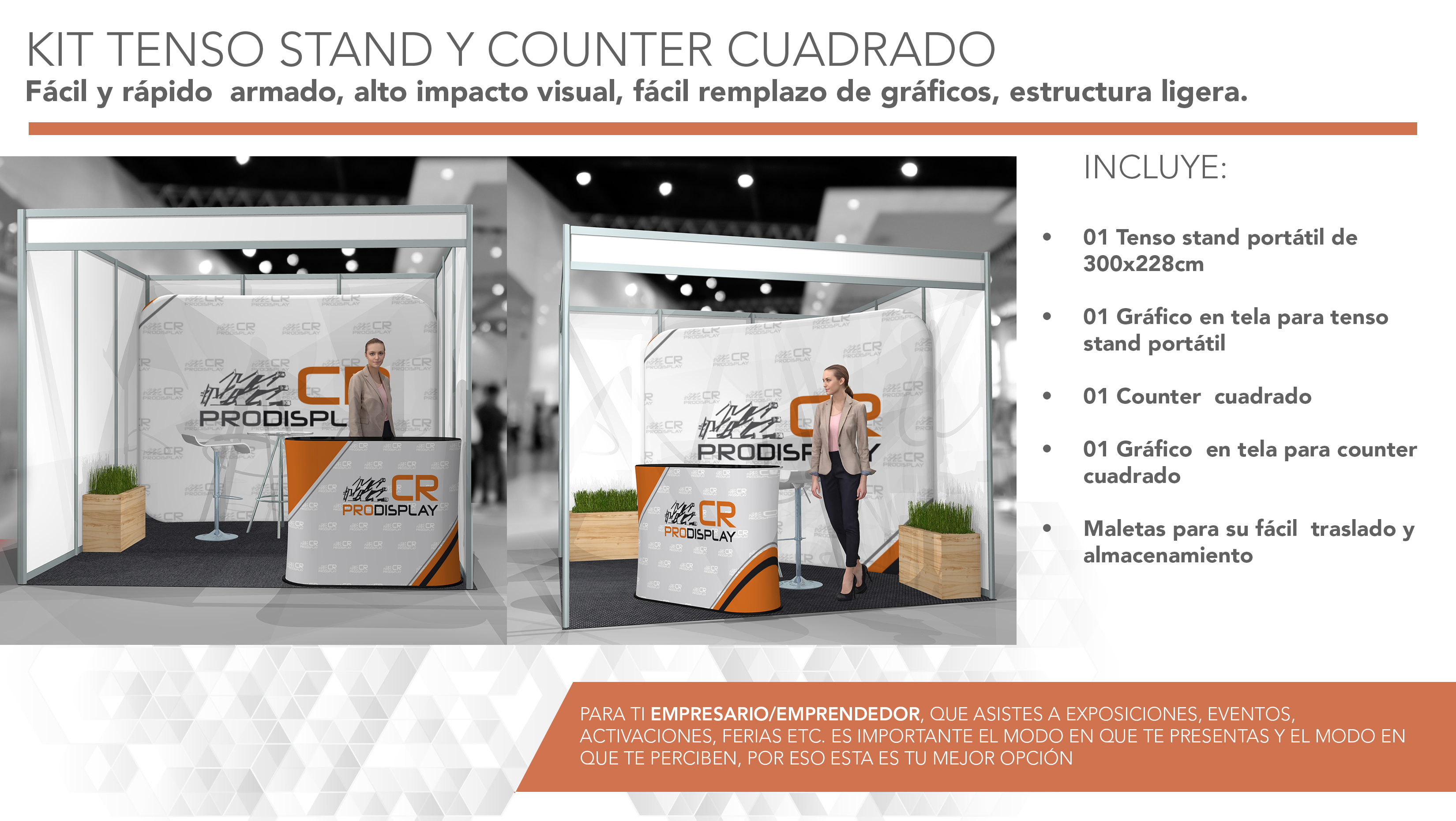 Tenso stand y counter portatil