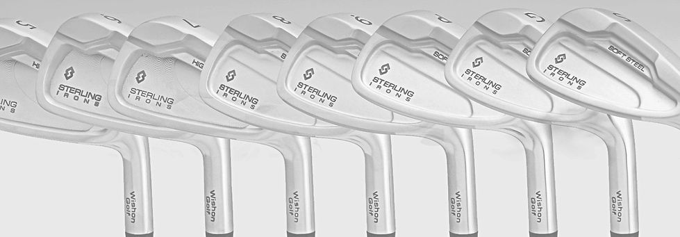 Wishon Sterling Single Length Irons, single length irons, wishon golf, golf clubs, same length irons, one length golf clubs
