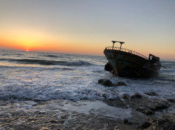 The old ship wreck in Agios Gordios