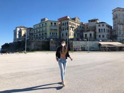 Corfu Town near the Port