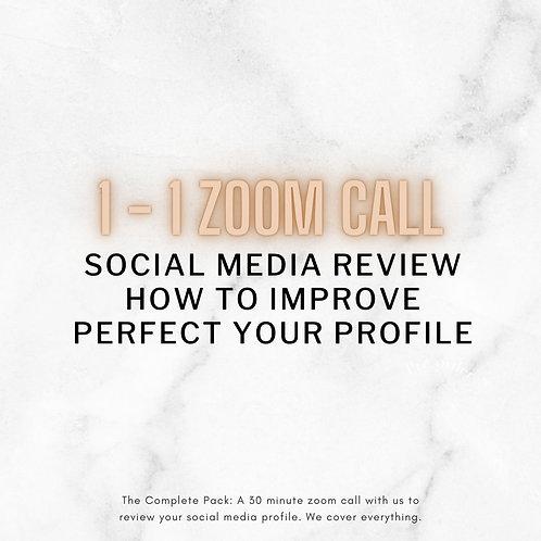 1-1 Video Call Social Media Planning