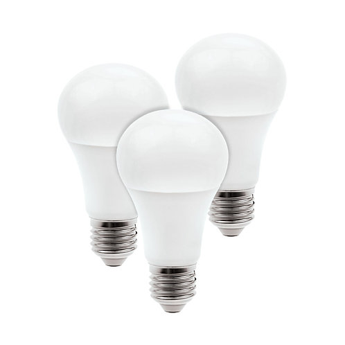 Kit de 3 focos LED Inteligentes, CCT Atenuable, Base E27, WiFi