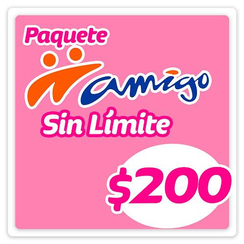 Paquete Amigo Sin Límite 200