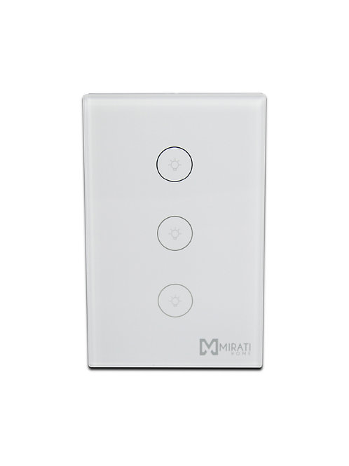 Switch de Pared inteligente 3 apagadores Touch | M3SI1