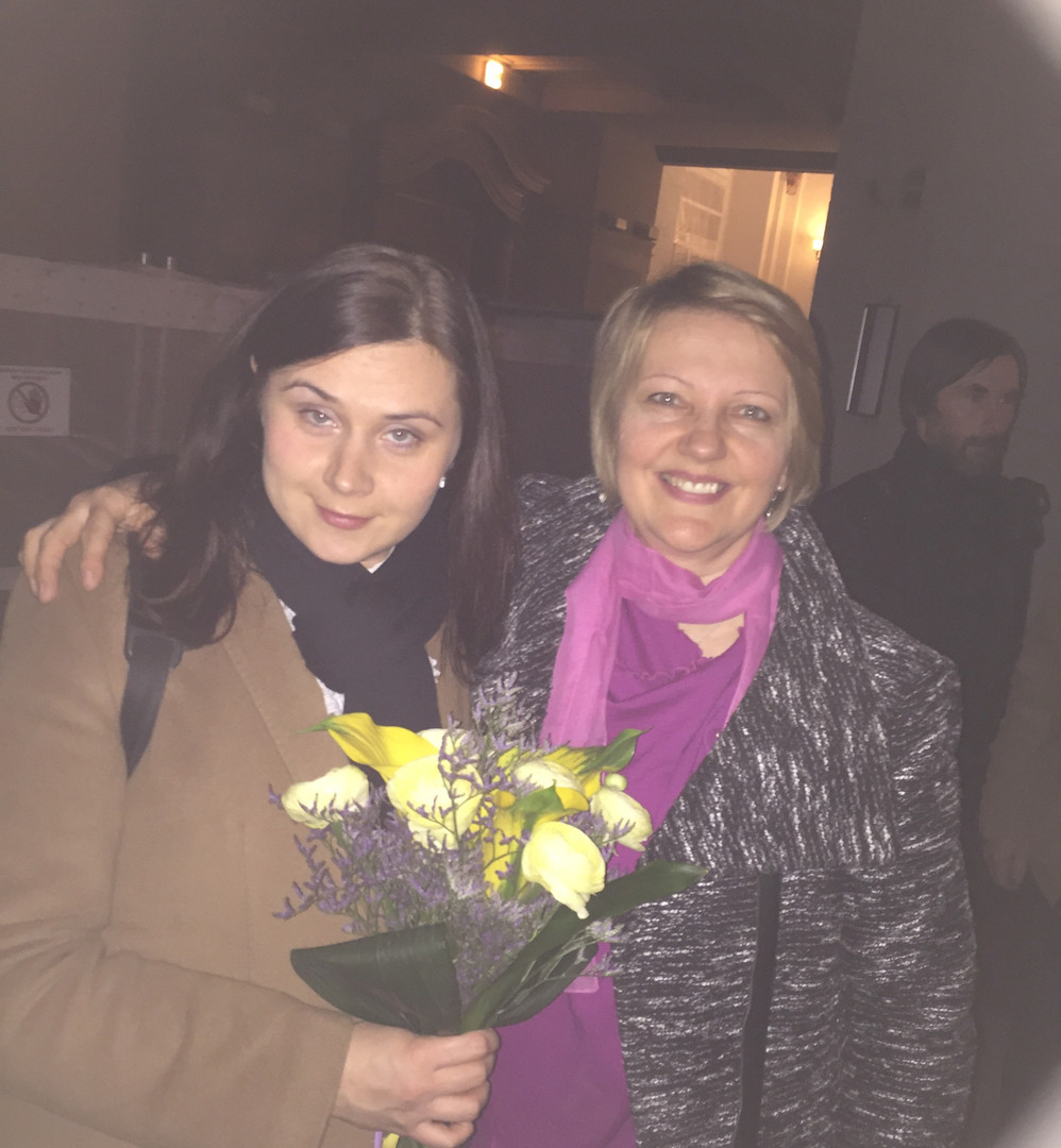 With flutist Anete Toča