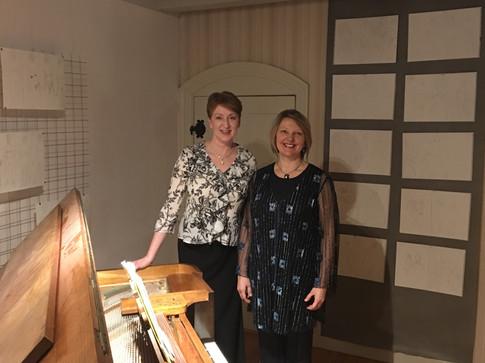 With soprano Ingegerd Nilsson