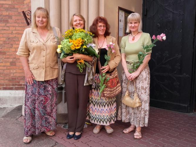 With composers Selga Mence, Indra Riše, Dzintra Kurme-Gedroica