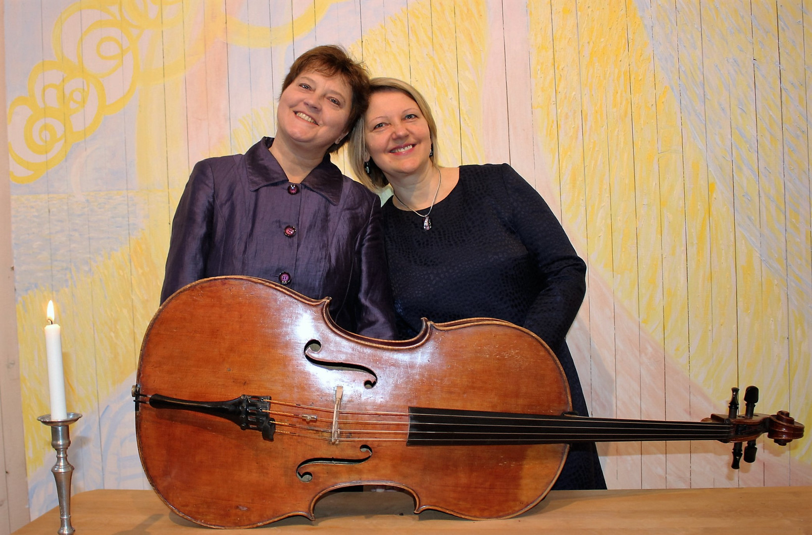 With cellist Lolita Lilje