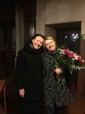 With Latvian Radio program manager Inta Zēgnere