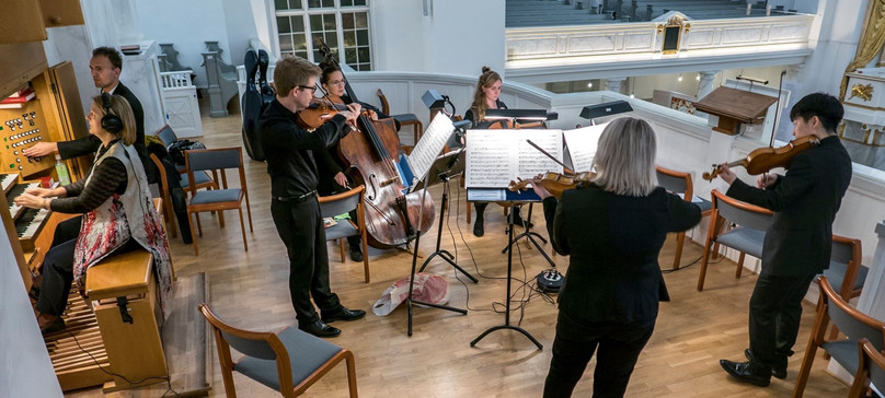 With chamber ensemble Gageego at Gothenburg Cathedral
