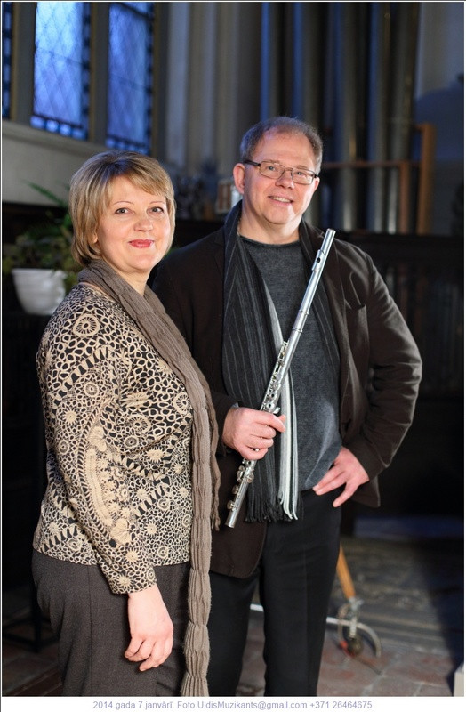 With composer and flutist Håkan Sundin