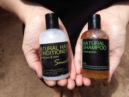 Champu y Acondicionador de cabello Natural 4oz