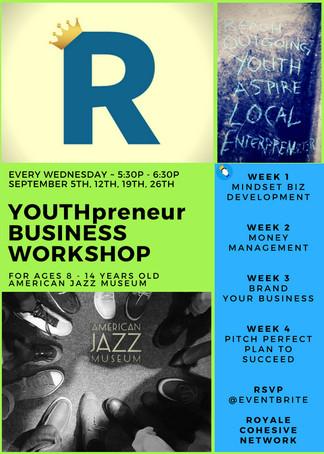 YOUTHpreneurs In Business - 4 week Workshops