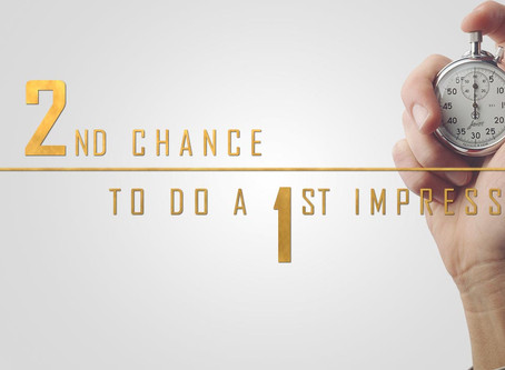 The second chance (to do a first impression)