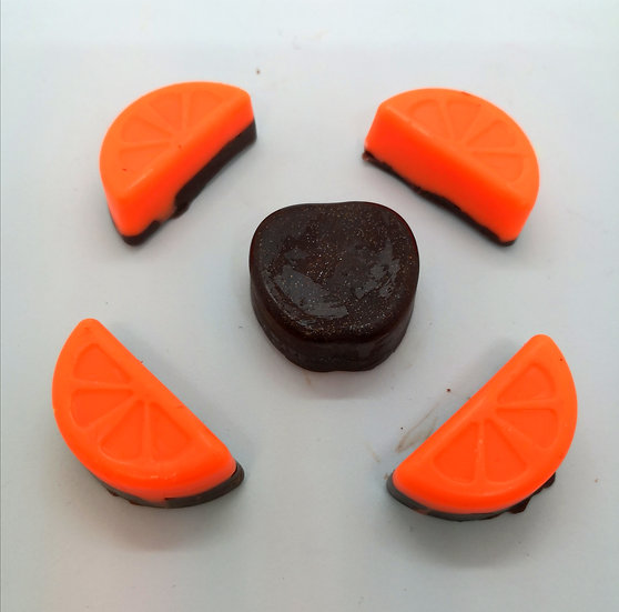Chocolate Orange Wax Shapes