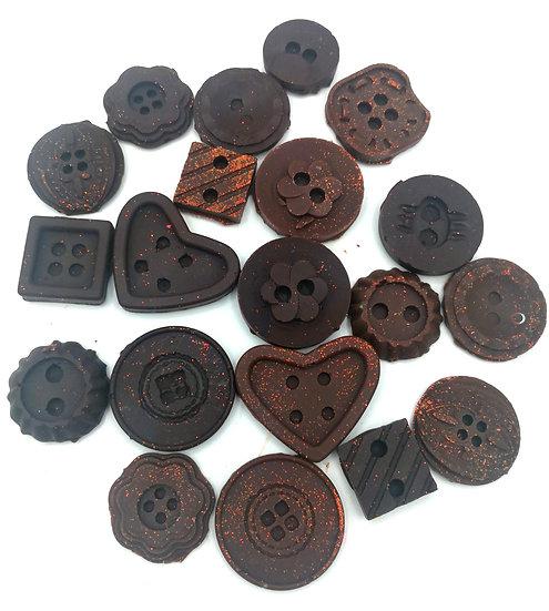 Bourbon Biscuit Wax shapes