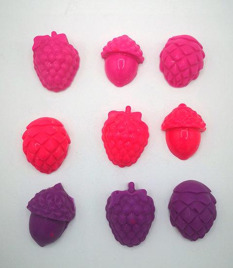 Mixed Berry Squash (Vimto) wax shapes