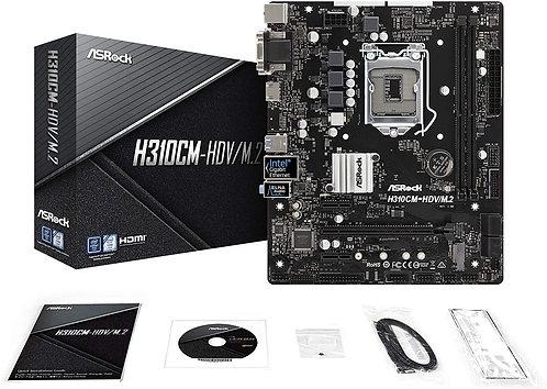 ASRock Intel H310 Micro ATX Motherboard H310CM-HDV/M.2