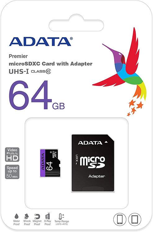 ADATA 64GB microSDHC/SDXC UHS-I U1 Class 10