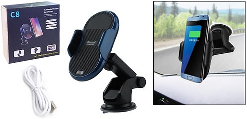 C8 Automatic QI Wireless Charger Cell Holder