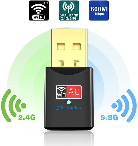 Blueshadow USB AC600 WiFi Adapter  2.4/5G
