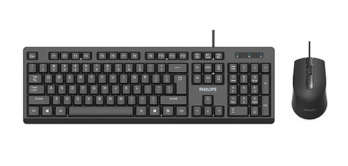 Phillips SPT6234 Wired Keyboard Mouse