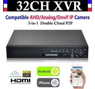 XVR 32CH Channel CCTV Video Recorder 1080P Hybrid NVR AHD TVI CVI DVR 5-In-1