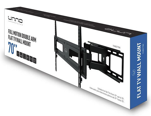 """Unno Full Motion TV Wall Mount Bracket for 37 to 70"""""""