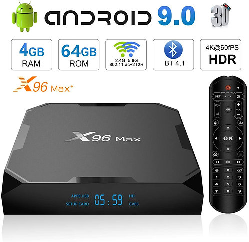 X96 Max Plus Android TV Box 4GB 64GB