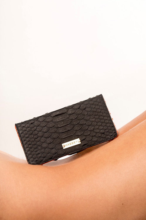 Black - Orange Large Card Holder