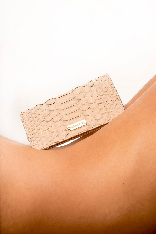 Beige - Taupe Large Card Holder