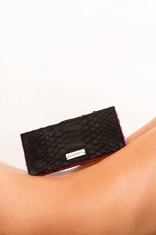 Black - Fuchsia Large Card holder