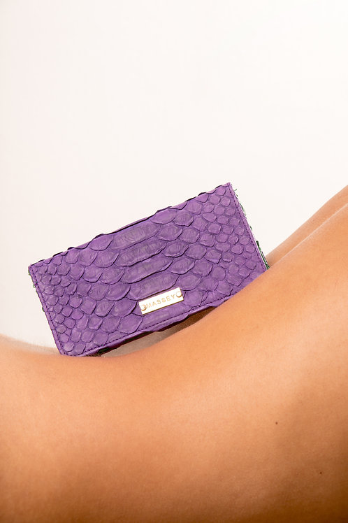 Purple - Green Large Card Holder