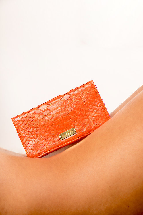 Orange - Fuchsia Large Card Holder